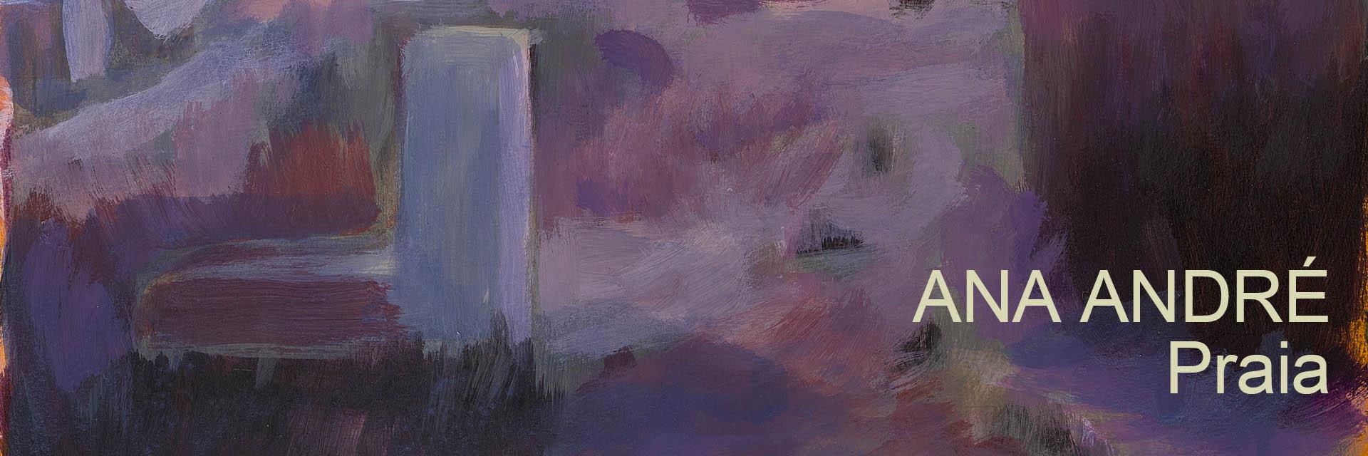 exposição de pintura de Ana André. Série: Praia