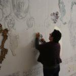 Projecto de desenho em que o público é convidado a desenhar no espaço da galeria