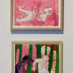 Desenhos de Isabel Baraona na exposição Prólogo :- exposiçaõ colectiva de Desenho, realizada em Vila Real de Santo António, no Arquivo Municipal