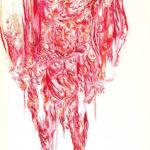 desenho de Isabel Baraona exposto na Artadentro em Faro