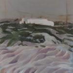 pintura de Ana André. Exposição Praia.