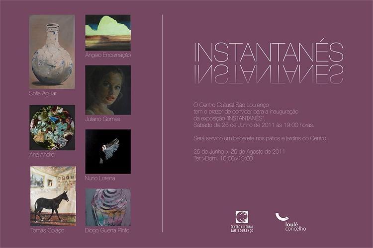 convite da exposição Instantanés no Centro Cultural de S. Lourenço produzido com a Artadentro