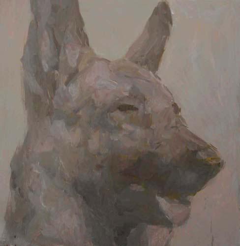 Pintura de Juliano Gomes exposta na Artadentro