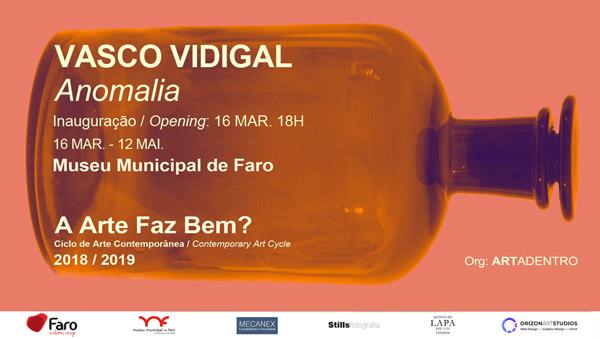 Vasco Vidigal inaugura exp pintura Anomalia